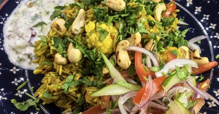 Karimix Cauliflower Sweet Potato Biryani