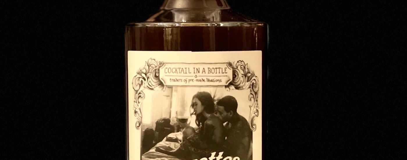 Cocktail in a bottle cigarettes coffee