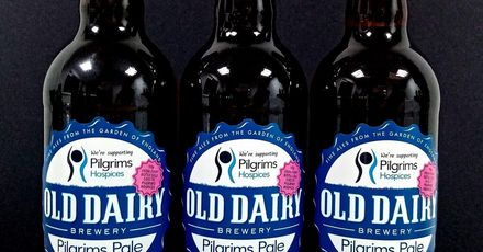 Old dairy brewery Pilgrims Pale Bottled beer