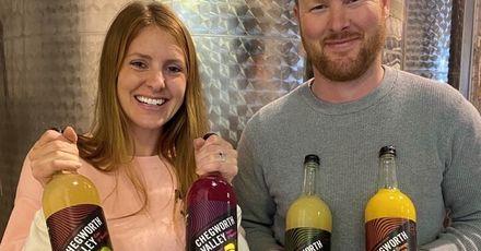Chegworth Valley Ben Charlotte rebranded juice bottles