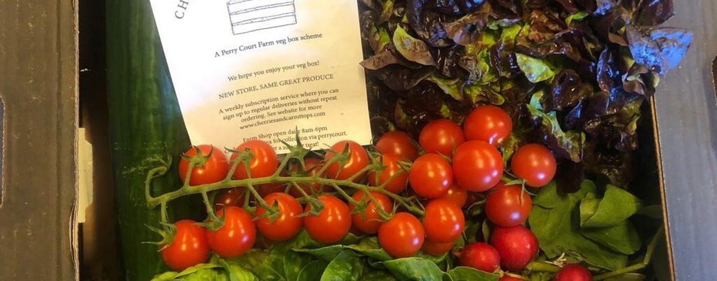 Perry Couirt Farm veg box