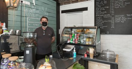 Kings Head licensee Lance Culver in the new community cafe and farm shop